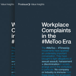 Value Insights: Workplace Complaints in the #MeToo Era